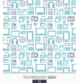 Technology wallpaper Digital seamless pattern vector image vector image