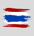 thailand flag official colors and proportion vector image vector image