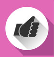 thumbs up white round buttons vector image