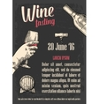 wine tasting female hand holding a glass wine vector image vector image