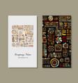 business card design ethnic handmade ornament vector image