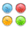 Colored Clocks vector image