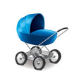 baby stroller isolated vector image