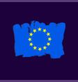 european flag painted by brush hand paints art eu vector image