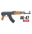 Russian automatic machine rifle AK47 vector image