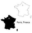 1068 paris france vector image