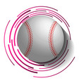 abstract baseball image with ball in 3d effect vector image vector image