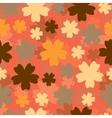 Abstract colorful background with flowers vector image