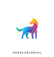 abstract horse template vector image vector image