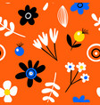 amazing seamless floral pattern with bright vector image vector image