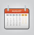 august 2018 calendar concept background cartoon