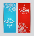 blue and red winter backgrounds vector image vector image
