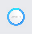blue loading bar for web interfaces template vector image vector image
