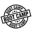 boot camp round grunge black stamp vector image