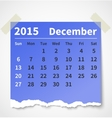 Calendar december 2015 colorful torn paper vector image vector image