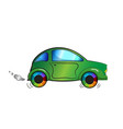 cartoon color car on white background vector image