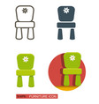chair for children different icons vector image vector image