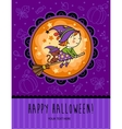 Childish Halloween card in vector image vector image