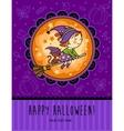 childish halloween card vector image vector image