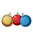 colorful sketch of christmas balls vector image