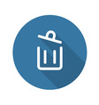 Container Button Trash Can Icon vector image