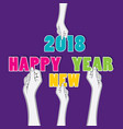 creative happy new year 2018 poster design using vector image vector image