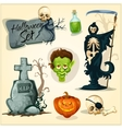 creepy and horror elements for halloween designs vector image