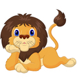 Cute cartoon lion relaxing vector image vector image