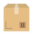 delivery carton box icon vector image vector image