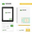 dollar business logo tab app diary pvc employee vector image vector image