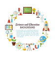 Flat Style Circle Template Collection of Science vector image vector image