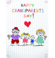 grandparents day children colorful hand drawn vector image