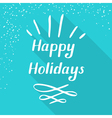 happy holidays small vector image