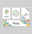 happy mother day french floral card and label set vector image vector image