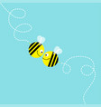 happy valentines day two flying bee kissing vector image vector image