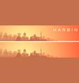 harbin beautiful skyline scenery banner vector image vector image