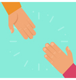helping hands in flat style vector image