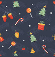 holiday seamless pattern with christmas toys vector image