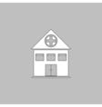 Hospital computer symbol vector image vector image