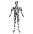 human anatomy person figure vector image