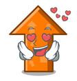 in love arrow mascot cartoon style vector image vector image