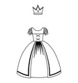 isolated medieval princess dress design vector image