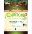 kids certificate for christmas vector image