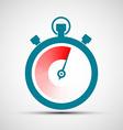 Logo stopwatch Stock vector image vector image