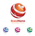 logo stylised spherical vector image vector image