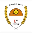 May 1st Labor Day Helmet Icon vector image vector image
