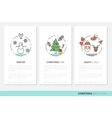 Merry Christmass Thin Line Brochures with Icons vector image vector image