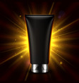 mock up cosmetic product on dark background vector image