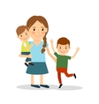 Mother with children Young woman and two boys vector image vector image
