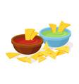 nachos mexican food vector image vector image